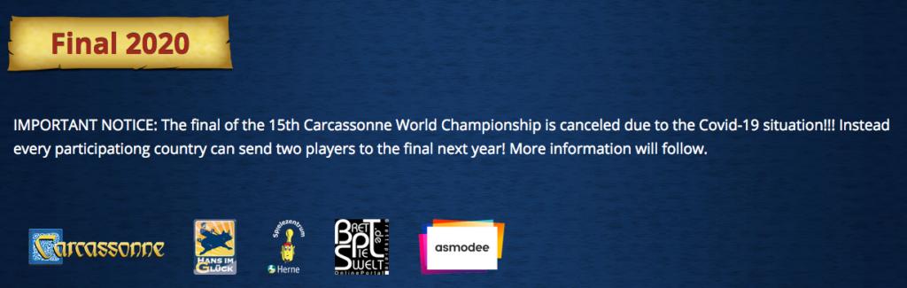 Anunci oficial sobre el Mundial 2020
